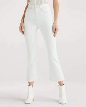 7 For All Mankind High Waist Slim Kick in Sunset Blvd