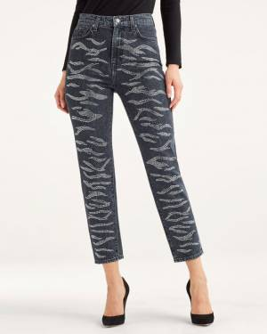 7 For All Mankind Zebra Crystal Jean in Slate Ridge
