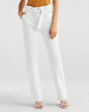 7 For All Mankind Paperbag Jean in Optic White