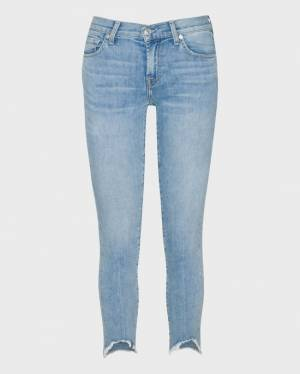 7 For All Mankind Ankle Skinny with Wave Hem in Saratoga