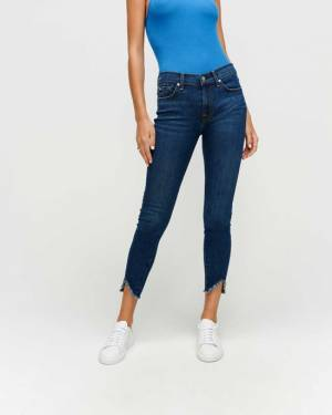 7 For All Mankind Ankle Skinny with Wave Hem in Fletcher Drive