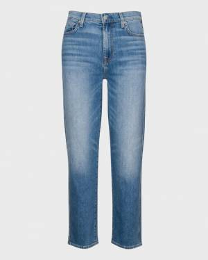 7 For All Mankind High Waist Cropped Straight in Alpine Drive
