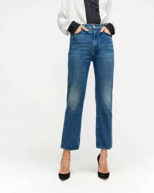 7 For All Mankind High Waist Cropped Straight in Retro Broadway