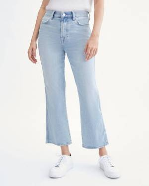 7 For All Mankind High Waist Slim Kick with Cutout Pockets in Beverly Boulevard