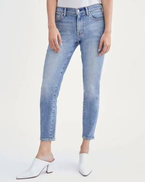 7 For All Mankind Luxe Vintage Ankle Skinny in Beau Blue