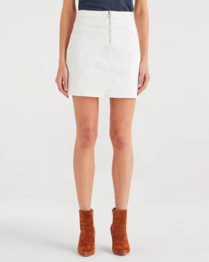 7 For All Mankind Seamed Mini Skirt in Sunset Blvd