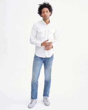 7 For All Mankind Uniform Shirt in White