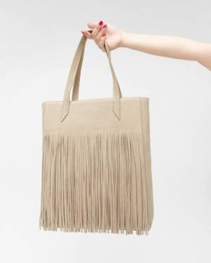 7 For All Mankind Fringed Suede Tote