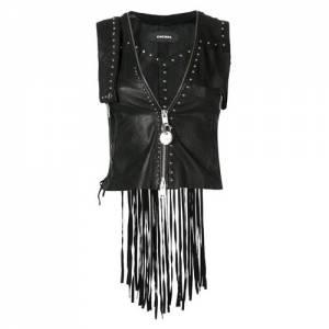 Diesel Fringed Leather Vest