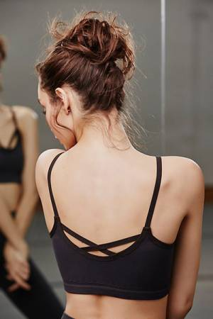 Free People FP Movement Barely There Black Sports Bra
