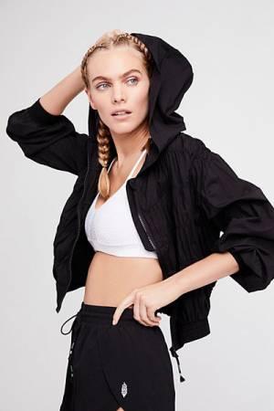 Free People FP Movement Zip-Up Hooded Windbreaker Jacket