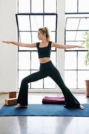 "Free People Workout Bra And Flare Pants ""High Kick"""