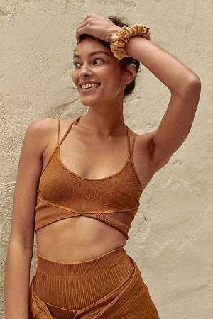 "Free People Activewear ""Black Diamond Crop Sports Bra"""