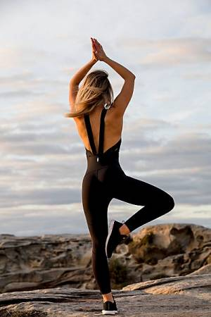"Free People Movement Workout Jumpsuit ""Side Hustle Onesie"""
