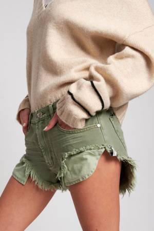 "OneTeaspoon Denim Shorts ""Khaki Rollers"""