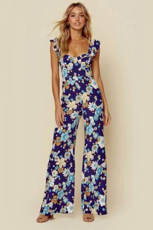 "For Love & Lemons Boho Floral Jumpsuit ""Magnolia"""