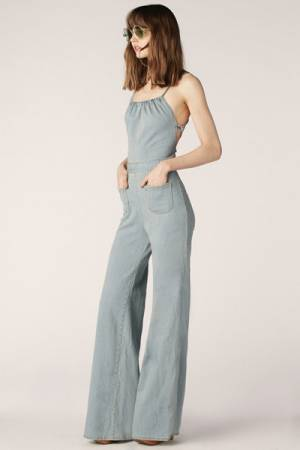 """Stoned Immaculate Jumpsuit """"Jean Genie"""" '70s Denim Flares"""