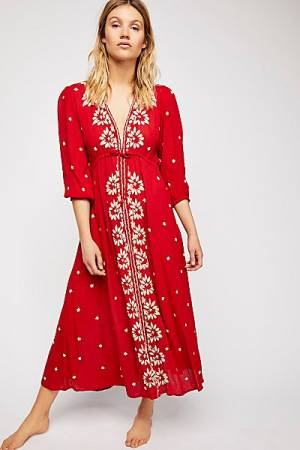 """Free People Maxi Dress """"Embroidered Fable"""""""