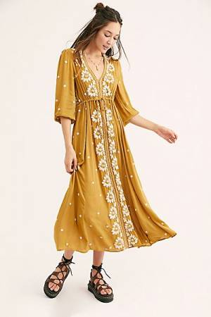 "Free People Midi Dress ""Fable Tuscan"""