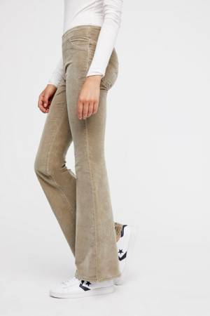 Free People Earth Pull on Corduroy Flare Jeans