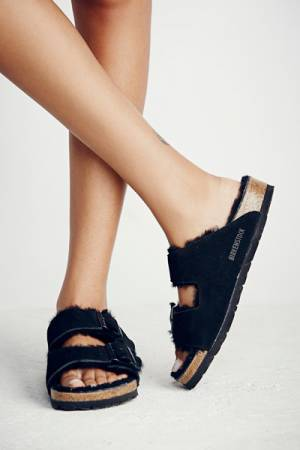Birkenstock Arizona Shearling Black Birkens