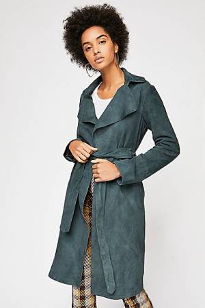 Free People Suede Trench Coat