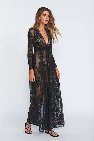 For Love & Lemons Temecula Bohemian Maxi Dress