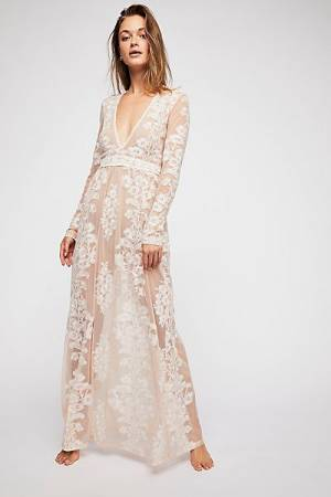 "For Love & Lemons Bohemian Wedding Dress ""Temecula"" Maxi Dress"