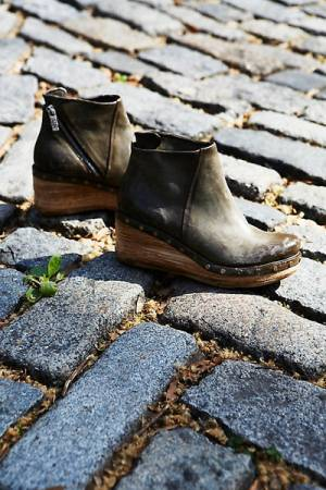 Free People Below Sunset Khaki Clog Boot