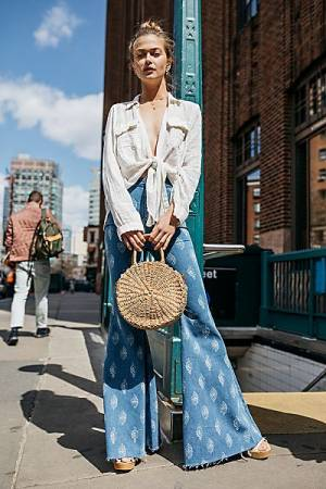 "Free People Boho Flare Jeans ""Just Float On"""