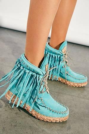 "El Vaquero Moccasin Boots ""Marine Roseland"""