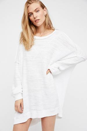Free People We The Free So Fresh White Slouchy Tee