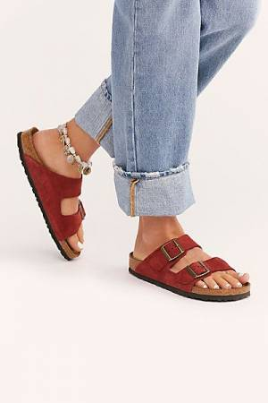 "Birkenstock Sandals ""Red Arizona Soft"""