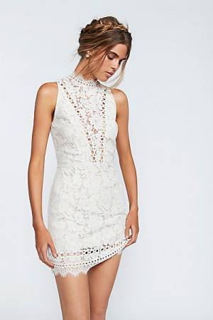 Saylor Cherie Ivory Lace Bodycon Dress