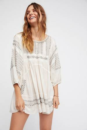 Free People Wild One Embroidered Bohemian Tunic