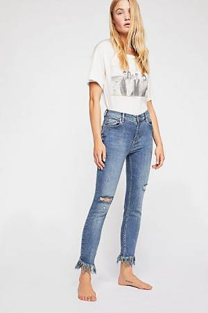 "Free People Skinny Jeans ""Frayed"""