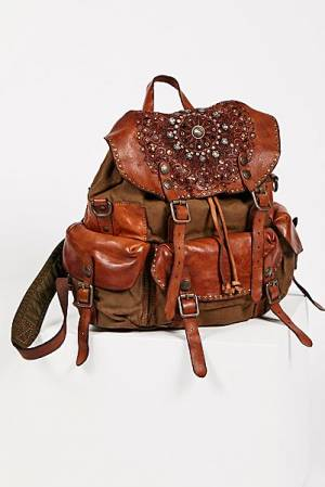 "Campomaggi Embellished Boho Backpack ""Trieste"""