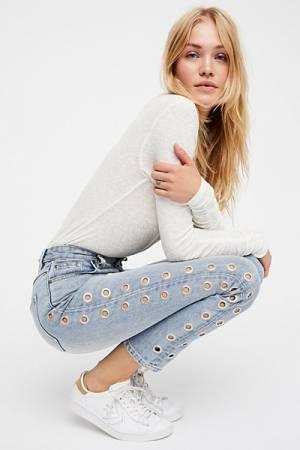 MINKPINK Youth Scando Vintage Blue Jean