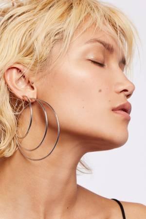 Free People Triple Hoop Set Earrings