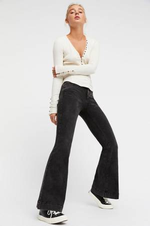 We The Free People Black Flare Jeans