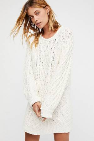 Free People On A Boat Knit Sweater Dress