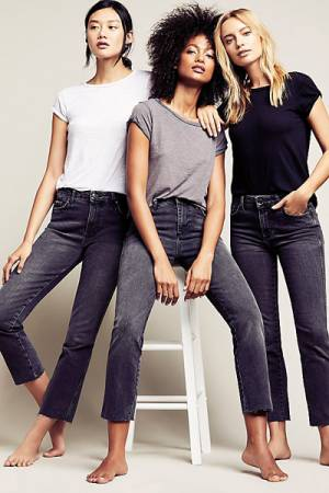 Free People Clean Girlfriend Black Jean