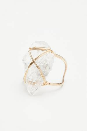 Mint Jewelry Co. Coyote Crystal Arrowhead Ring