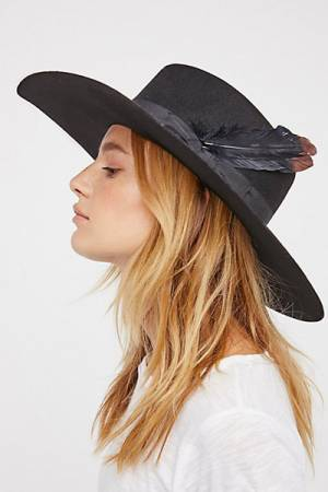 Van Palma Bandidas Feather Band Black Felt Hat