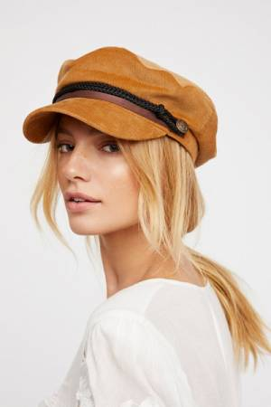 Free People Piper Caramel Lieutenant Hat
