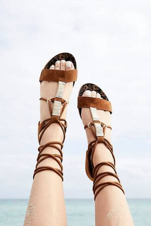 Free People FP Collection Fiji Wrap Sandal