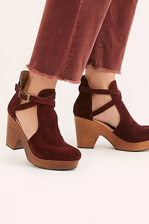 "Free People Clogs ""Merlot Cedar"""