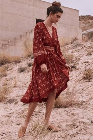 """Spell Bohemian Midi Dress """"Jewel Soiree"""""""