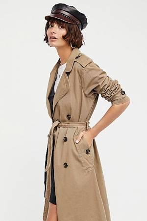 NSF Dorian Khaki Trench Coat