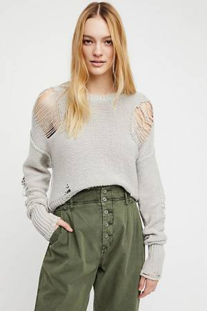 NSF Presley Distressed Knit Sweater